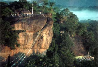 View of Dafther Jailany Rock Cave Mosque, Sri Lanka